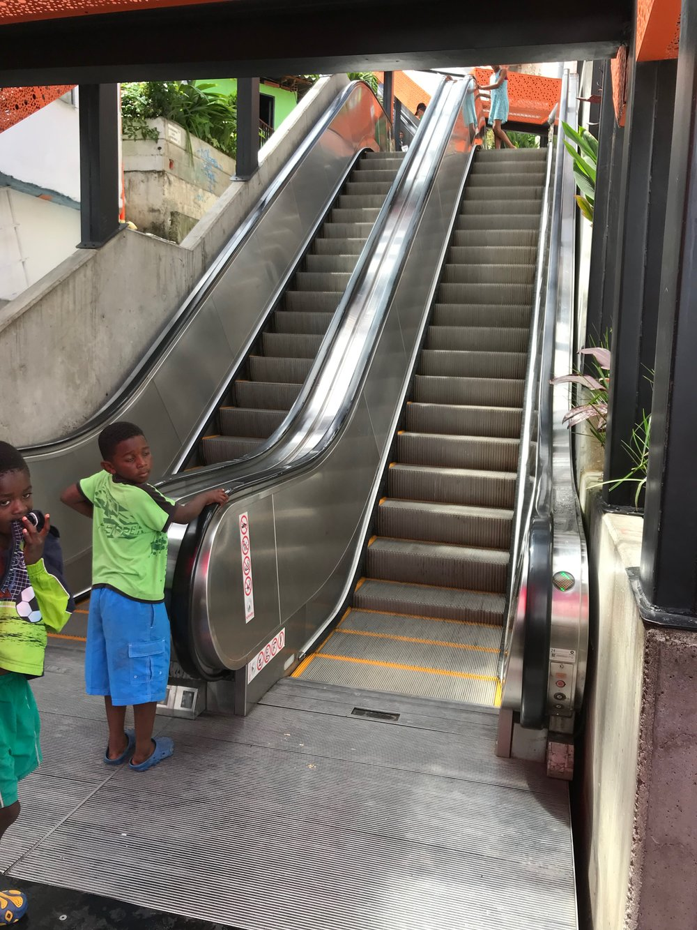One of Comuna 13's many outdoor escalators