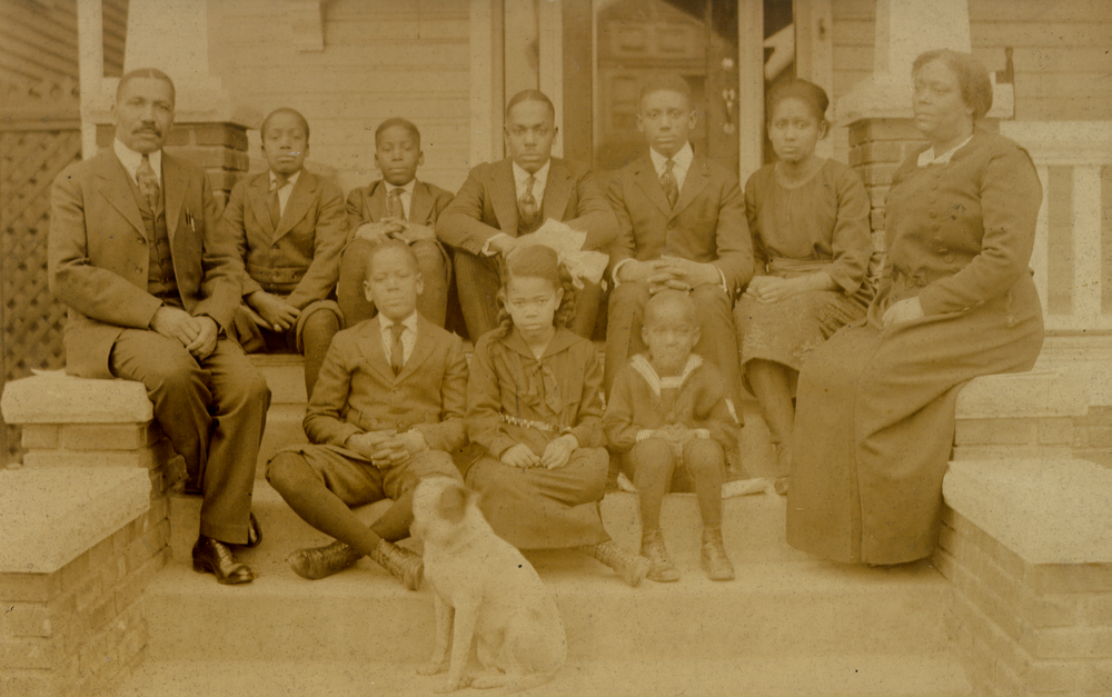 Photo: The John and Mary Ridley family, c. 1920. John Ridley was one of the founders of the Crown Savings Bank.  Source: Newport News A Centennial History by Quarstein & Rouse, 1996.
