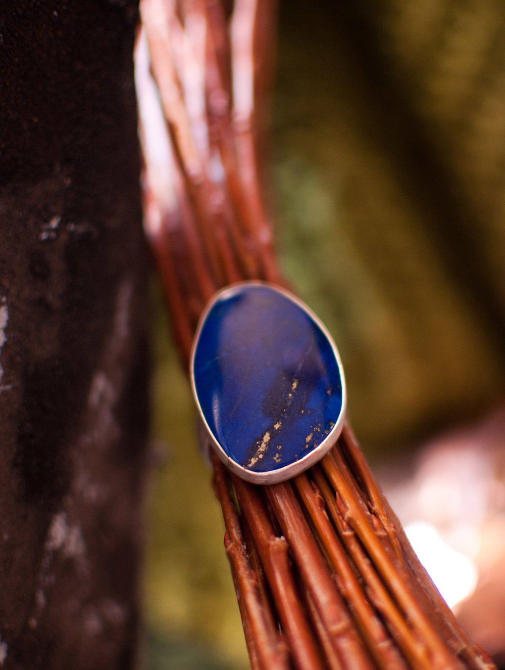 lapis and silver ring handmade jewelry montana