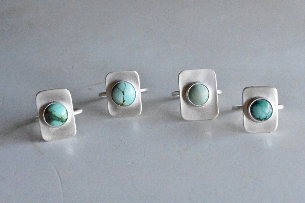 Stable Rings // Turquoise - Simple and stunning. A small piece of turquoise framed by silver. UniqueWholesale Price: $47.50Retail Price: $95.00