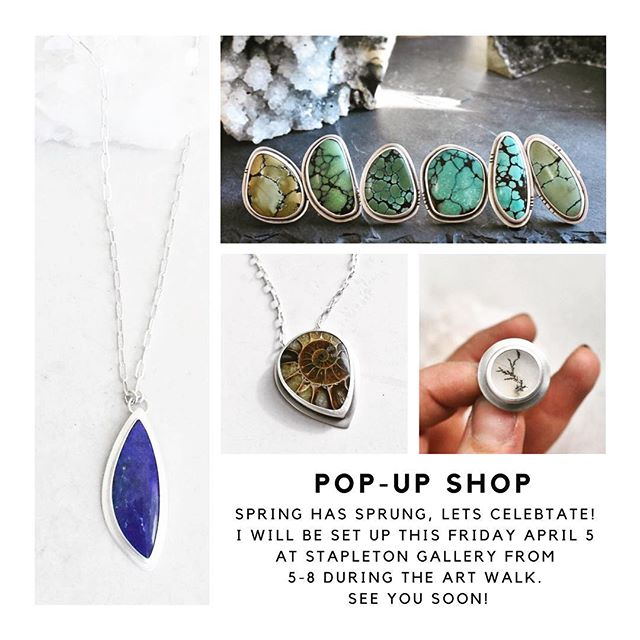 Hello hi Billings! Let's do an Art walk! The Stapleton Gallery is a few doors down from Big Dipper Ice Cream, I'll be upstairs debuting my brand spankin new display and all of my fresh spring 2019 collection pieces. Come wish me a happy birthday too! See you 🥳