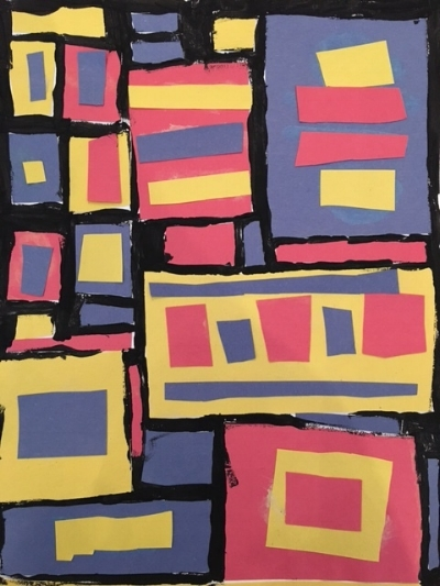 Broadway Boogie  by Piet Mondrian was our inspiration for this piece.