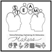 STEAM Maker Labs K4-12 STEAM Makers Labs for youth ages 9-18 engage young people in creative vision activities where they learn about the Art of the Possible and create drawings that illustrate how they imagine things working in the future. Once their ideas are captured, we identify, and connect them with local area Maker Labs for a field trip to learn how to transform their idea drawings into real objects.
