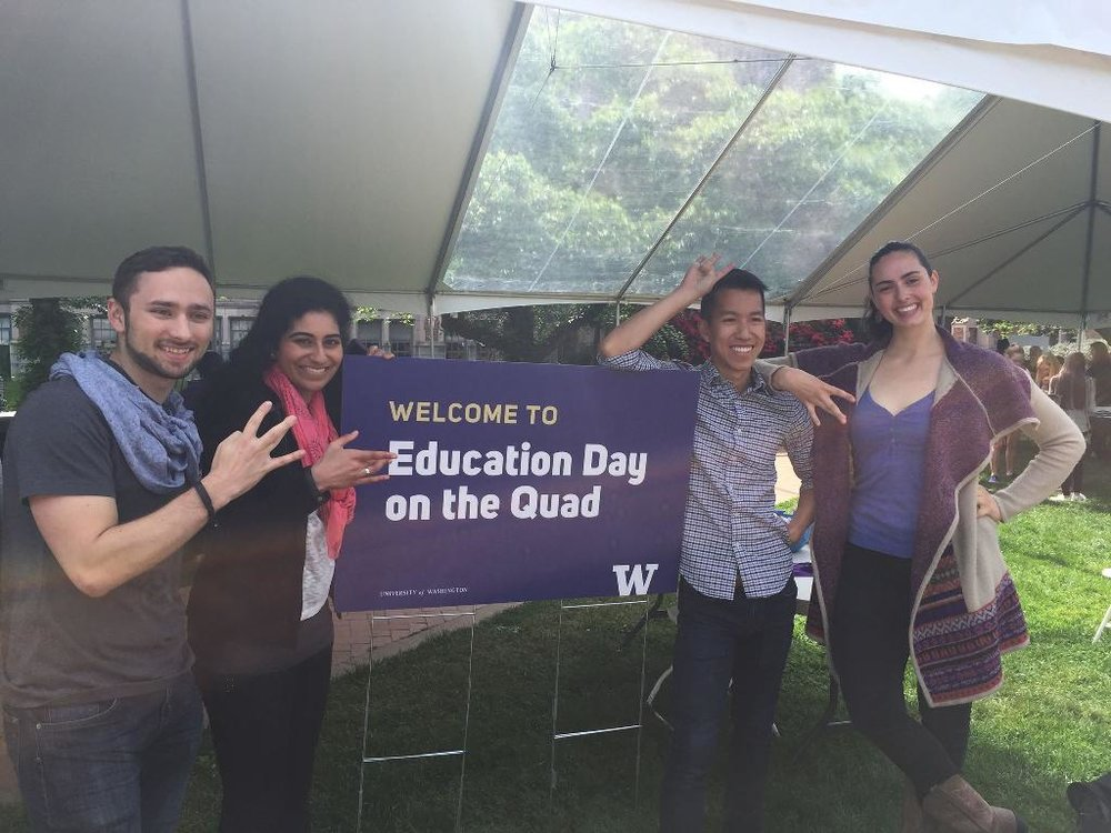 Racy Sketchy Sexy  was invited by the UW School of Education to perform for its Education Day on the Quad, where academic and activism performance intersect. May 2016.