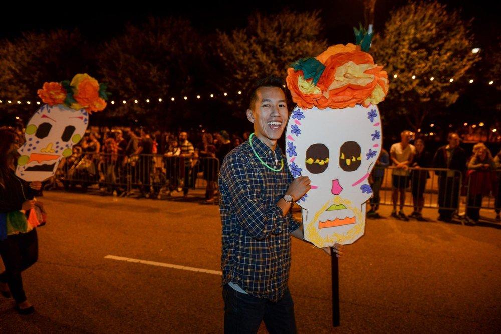 Arts in the Dark Parade. Chicago Sinfonietta.  Photo: Chris Ocken