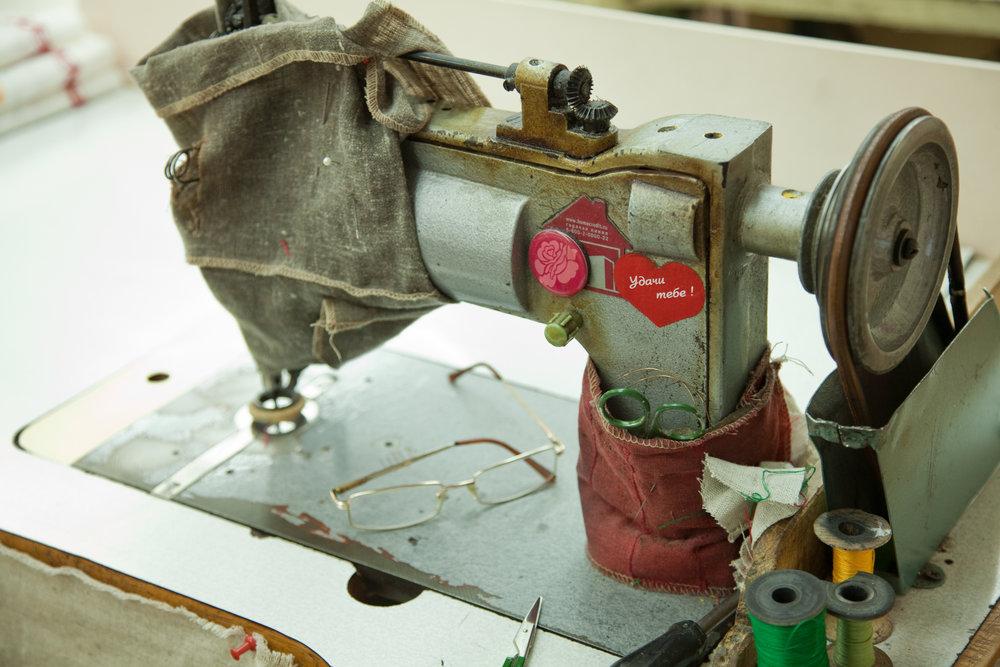 En fabrikk med håndverkere
