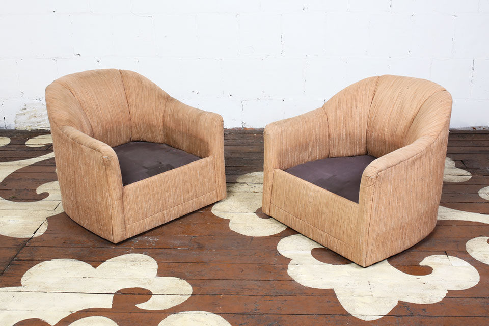 Vintage Barrel Back Chairs