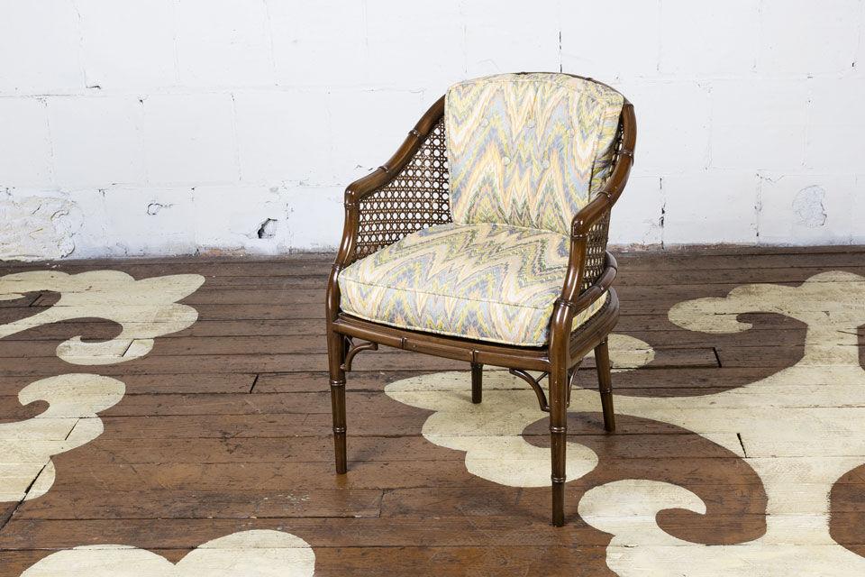 Faux Bamboo Armchair