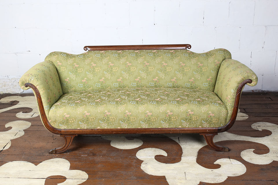 Antique Sleigh Sofa - Antique Sleigh Sofa — Chairloom