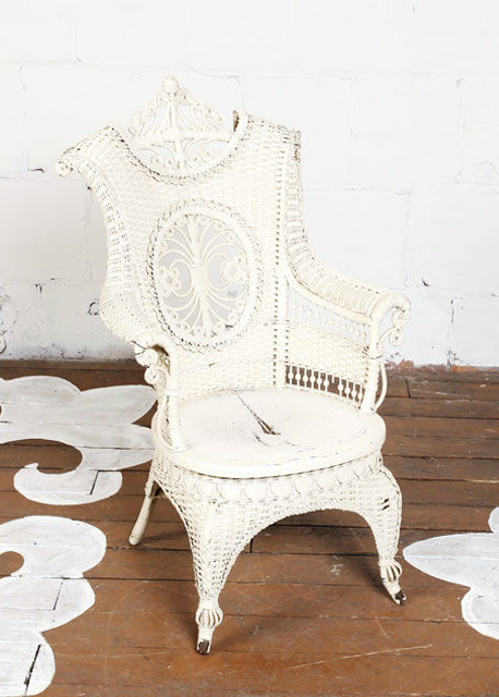 Vintage Wicker Chair Chairloom