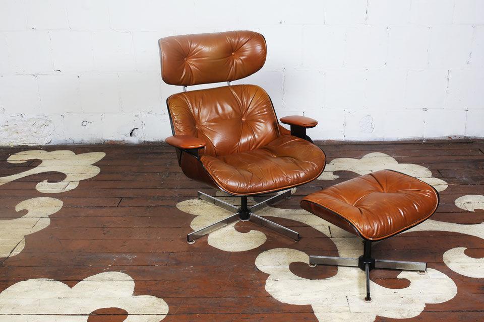 Vintage Eames Style Lounge Chair U0026 Ottoman