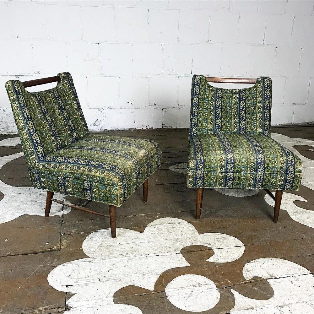 Beautiful Mid Century Modern Slipper Chairs