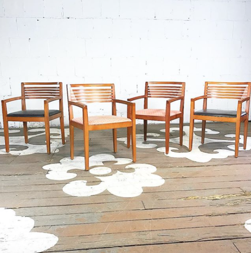 Set Of Knoll Arm Chairs