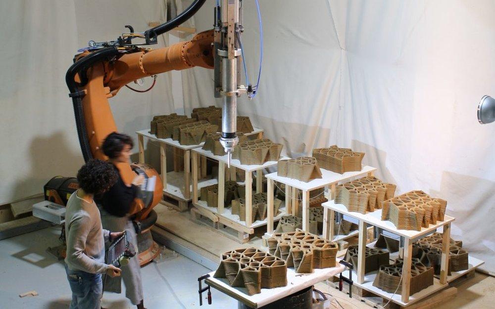 robotic 3d printing clay