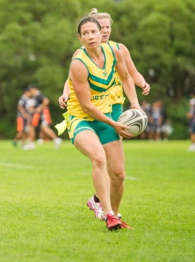 Dr Brandi respresenting Australia in TAG Rugby