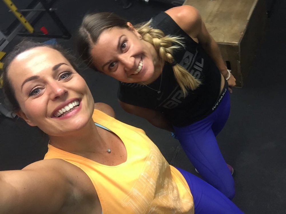Grace and Victoria Fritz after training