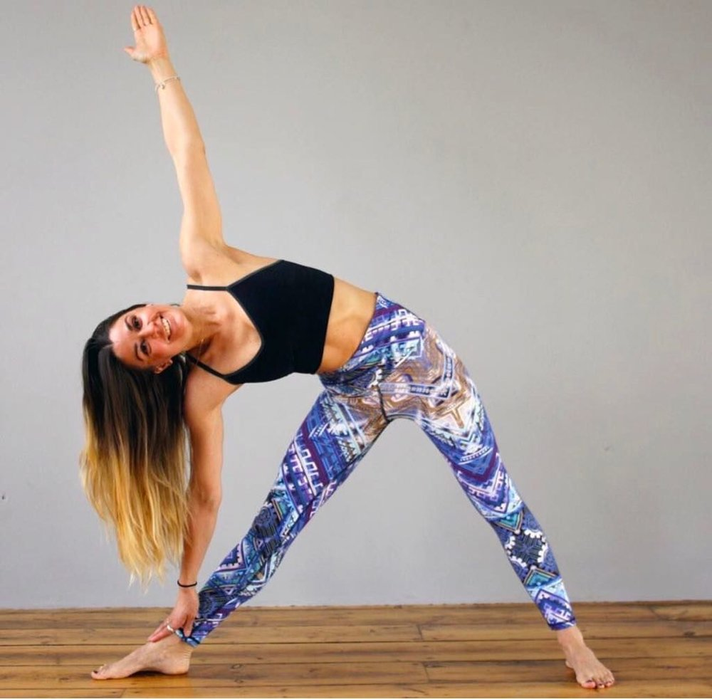 Grace enjoying the restorative properties of yoga in her Moov leggins | Grace Brown Fitness