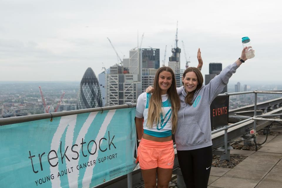 Grace and Sophie at the top of the tower in Conquer the Tower