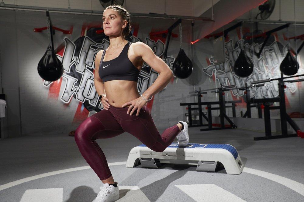 Single leg lunge | Grace Brown Fitness London