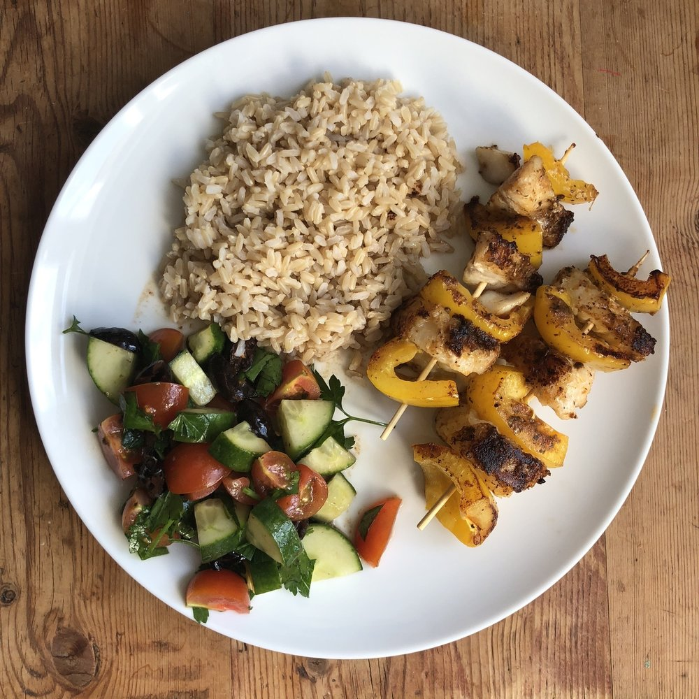 All the colours on my plate | Grace Brown Fitness London