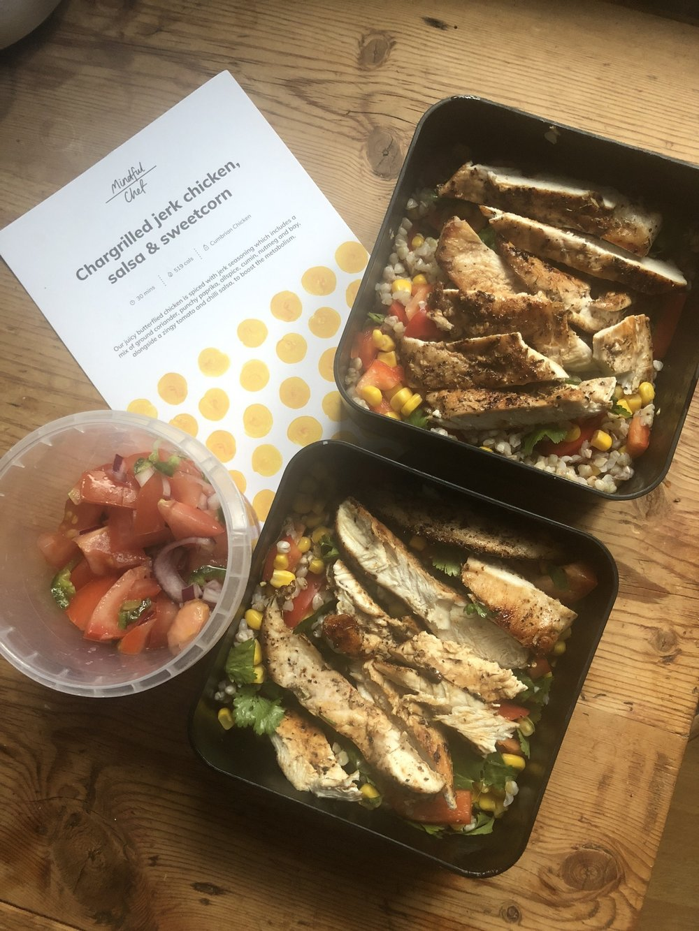 Prepped for two lunches with Mindful chef | Grace Brown Fitness London