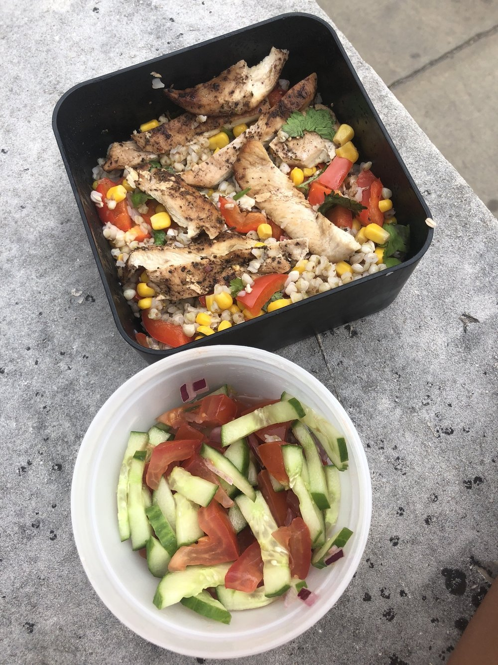 Enjoying Mindful Chef for lunch | Grace Brown Fitness London