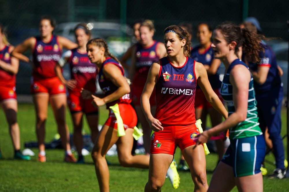 Concentration! Team GB Tag Rugby | Grace Brown Fitness London