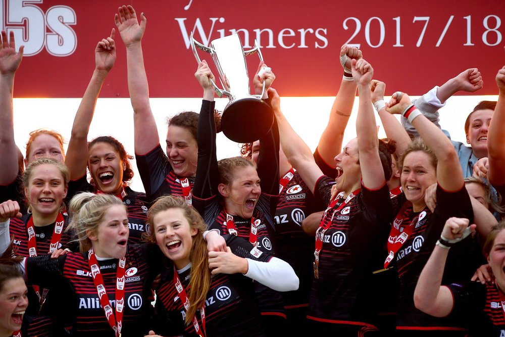 Garnet Mackinder and fellow Women's Rugby 15's Champions | Grace Brown Fitness London