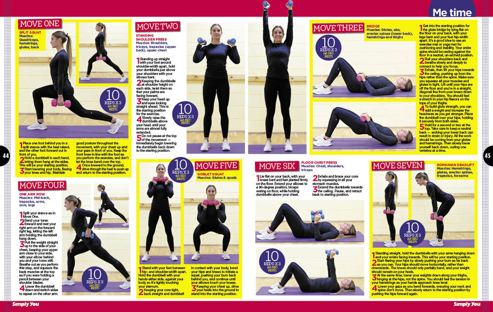 Getting into weights at any age - Grace Brown's feature in Simply You Magazine