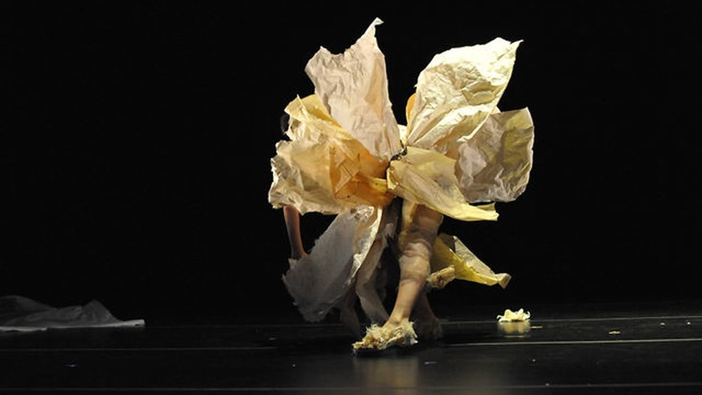 Sharon Mansur in the performance of Residue, 2012