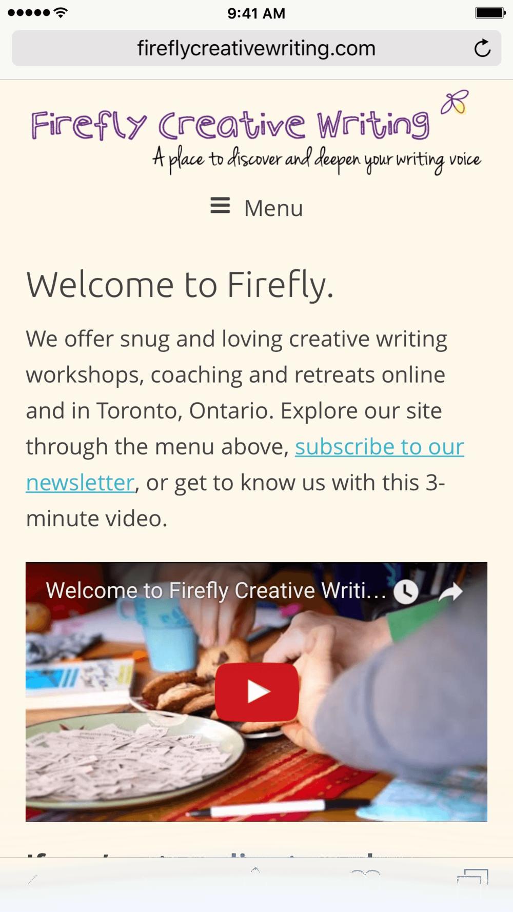 Creative writing video youtube