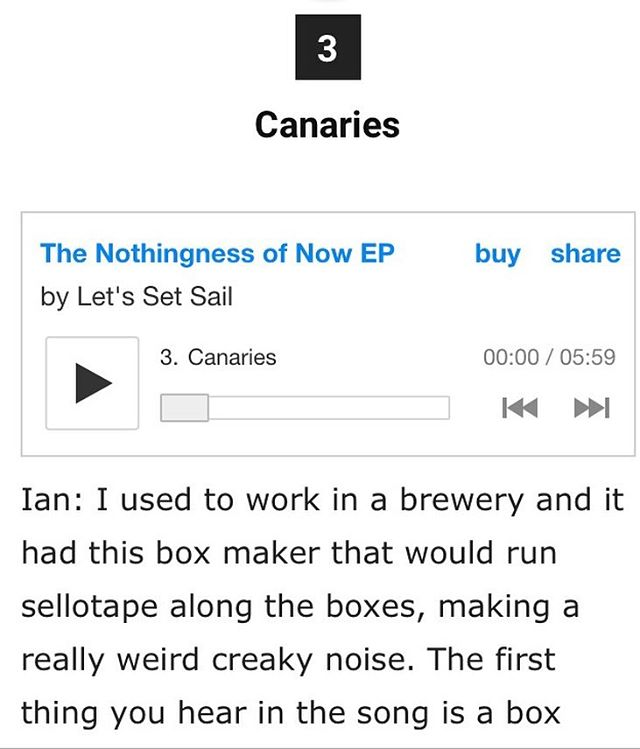 Want to read about how Ian uses brewery box making sellotape sounds in our music? Well now you can! We spoke to @overblown_webzine about each song on 'The Nothingness of Now'. Have a read here: https://overblown.co.uk/lets-set-sail-the-nothingness-of-now-ep-track-by-track/ 📦🍺