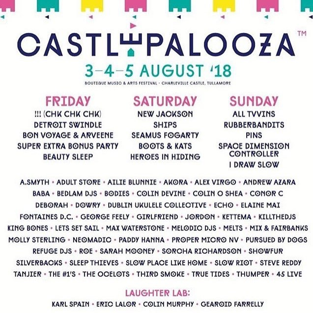 Really looking forward to returning to @homebeatmusic Ballroom Stage of @castlepalooza this summer! 🙌
