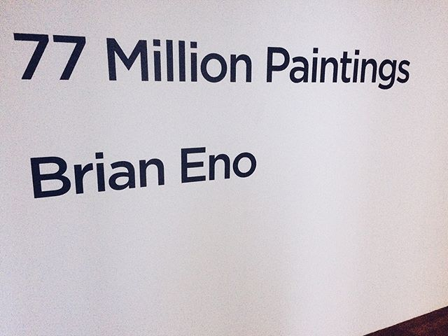 Go in there now you and relax the arse off yourself @rhagallery . . . . . . #brianeno  #ambient  #soundandvision  #dublin #soundinstallation