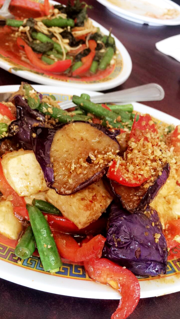 the eggplant miso chili paste tofu