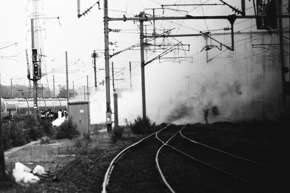 [Strike on the railroad loi travail - Gare de Caen]