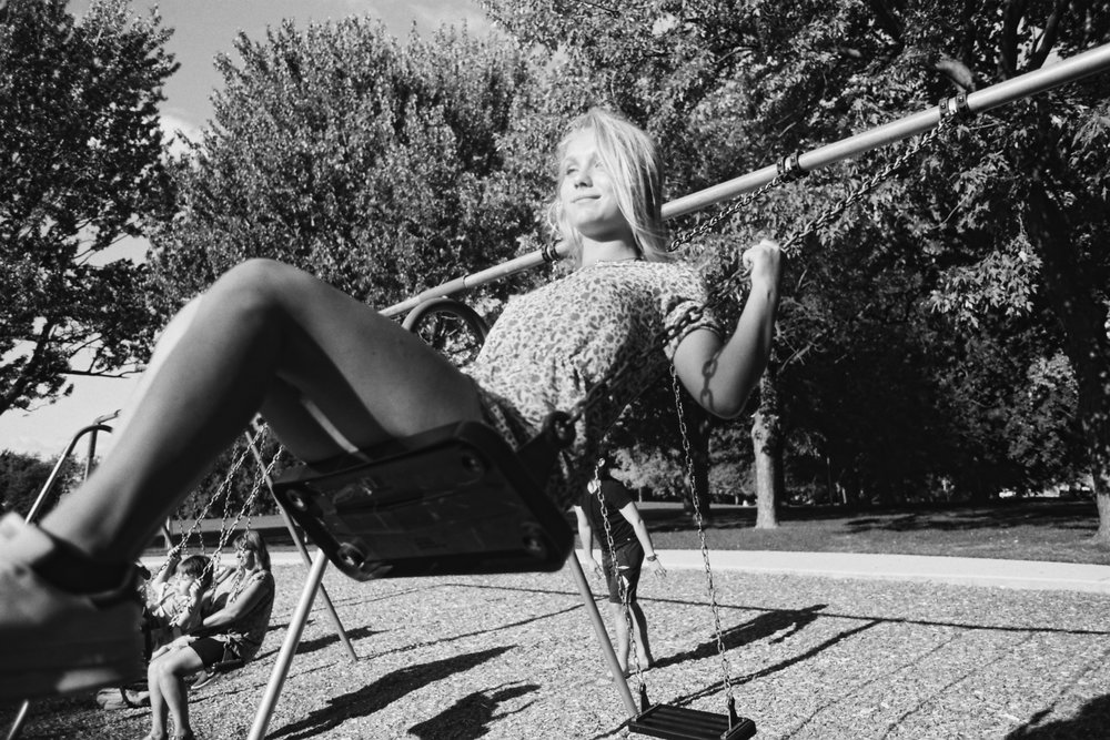 [Rosie Hilyer on the swing - Montreal]