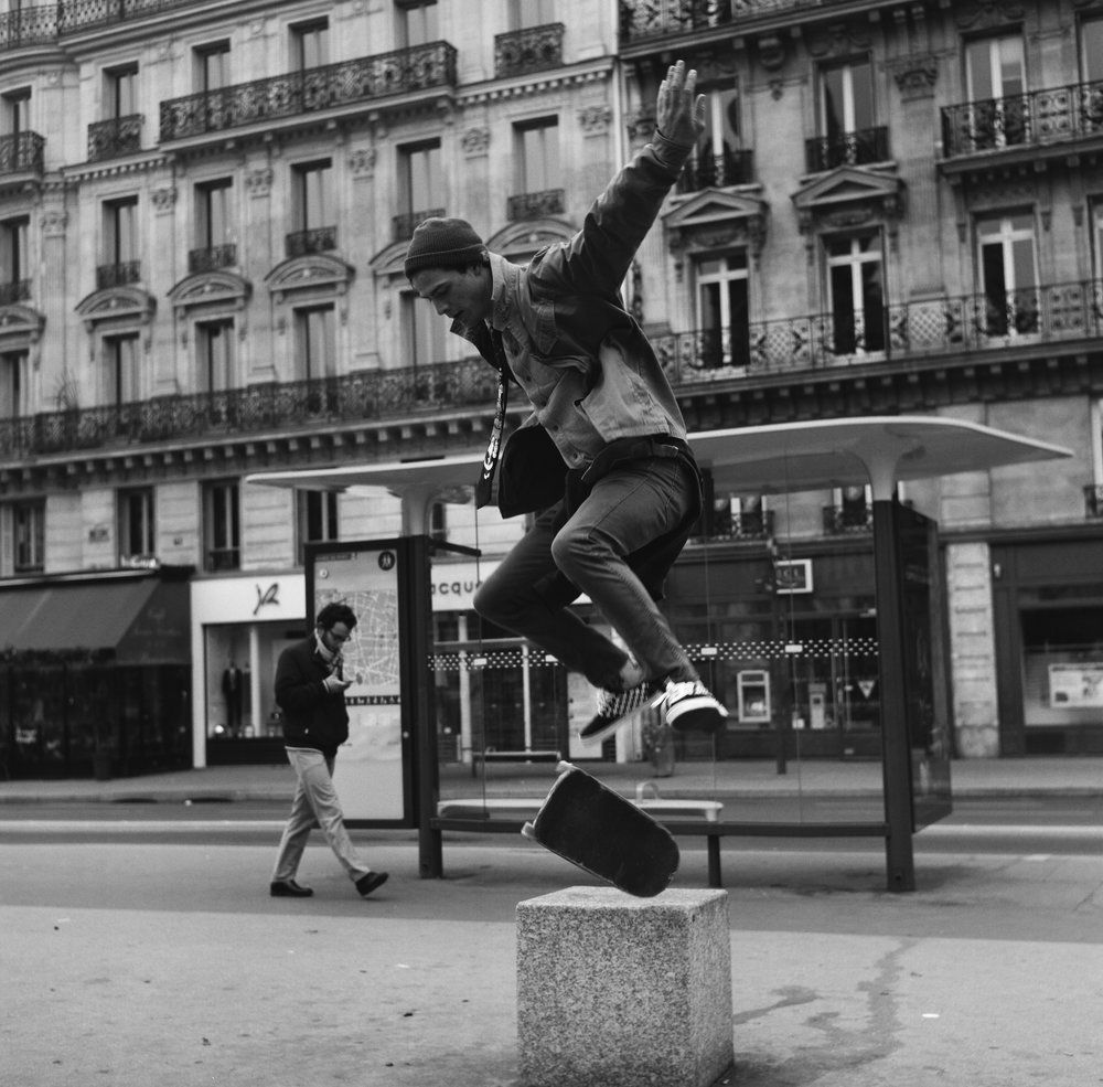 [Brendan Hart skating in Paris]