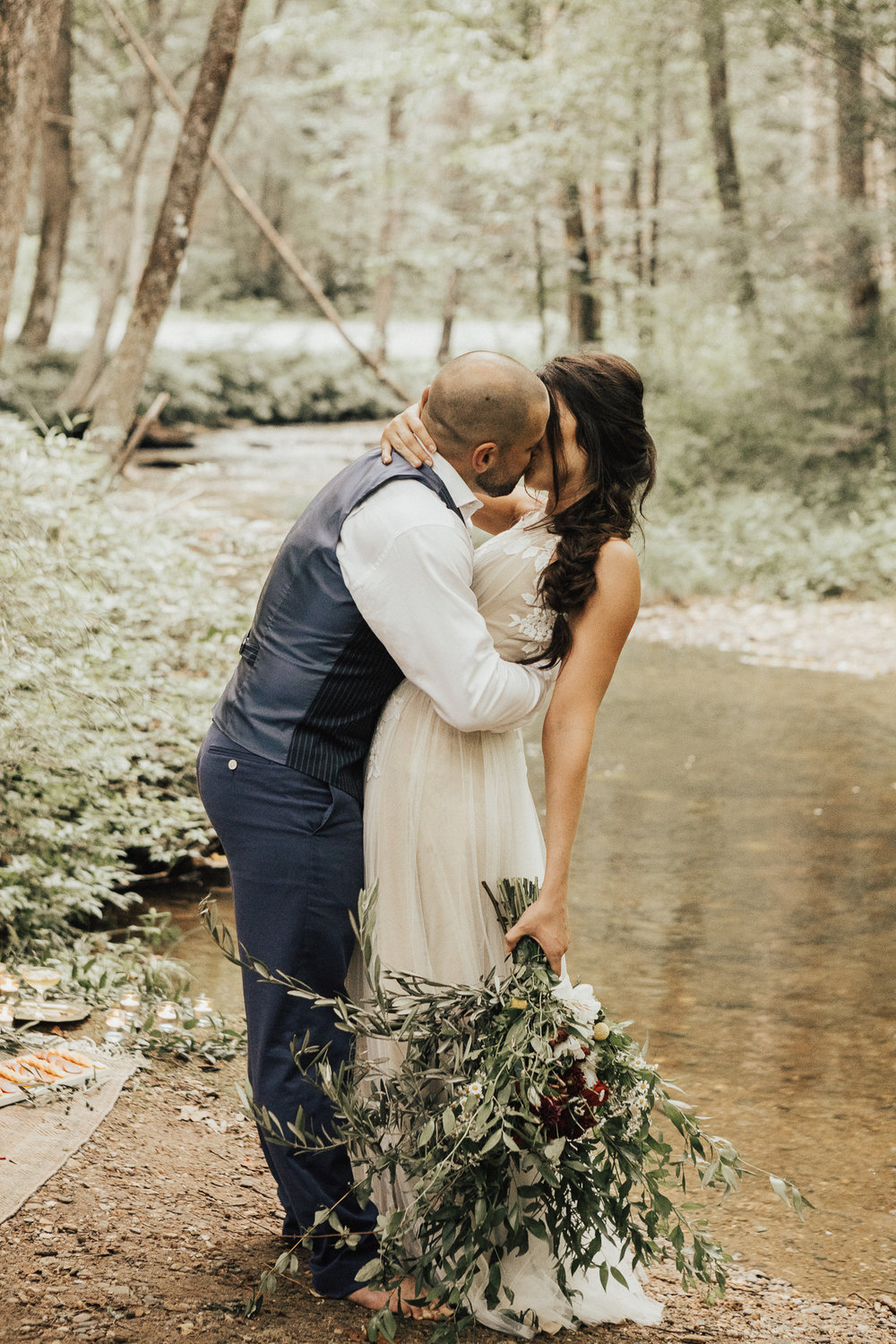 bohemian styled elopement at looking glass falls pisgah national forest asheville north carolina.jpg
