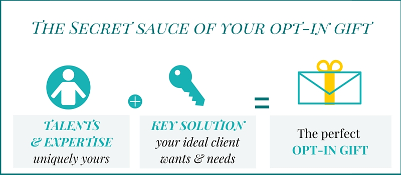 The ideal opt-in gift combines your expertise with a solution your audience is searching for