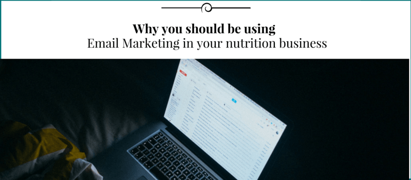Email marketing: nutrition for you online business image