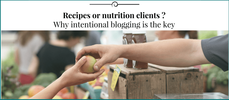 Why blogging is the key to get nutrition clients