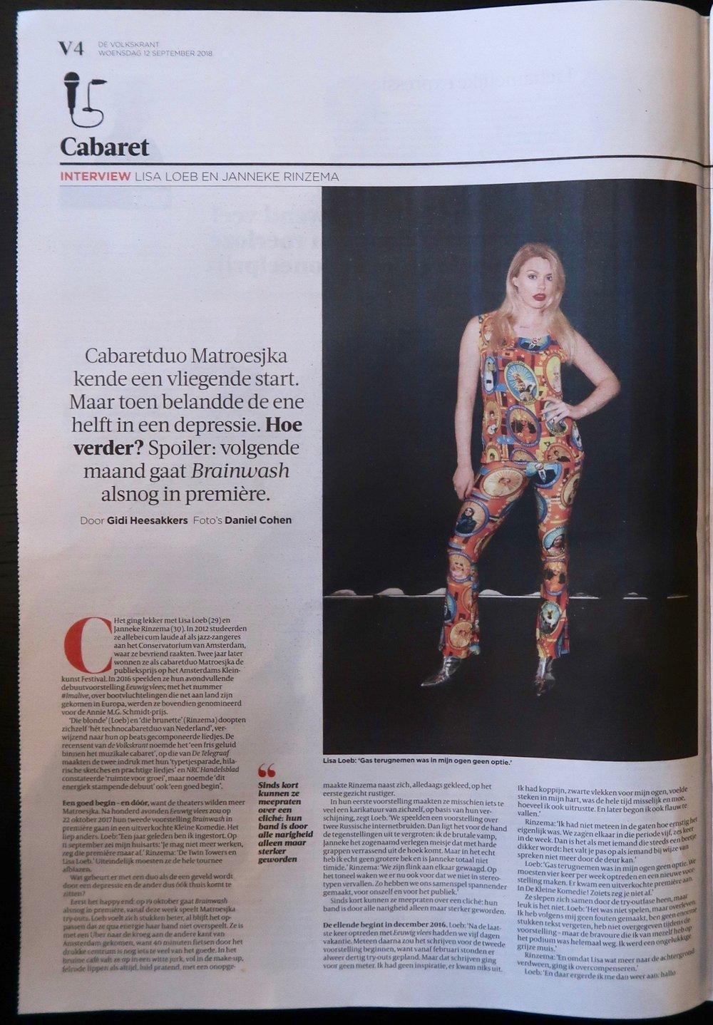 Lees het interview op de site van de Volkskrant:  bit.ly/volkskrantmatroesjka