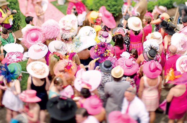 There are many honored traditions during Derby Weekend, but the #PinkOut for #Oaks Day has to be one of our favorites! #breastcancerawareness  #Repost @gardenandgun ・・・ The #kentuckyderby doesn't do subtle. But the parade of plumage at the Kentucky Oaks (today), may give the flamboyant style at the Run for the Roses a run for its money. #kentuckyoaks #pinkismysignaturecolor (📸: @gregkeysar