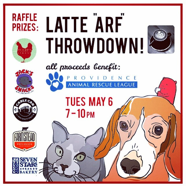This latte art throwdown in Providence, R.I. asked for donations at the door, as well as hosting a raffle of awesome, high priced prizes from favorite local businesses.