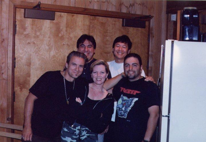 Rumbo Recorders in '96 w/ Pat Benatar,Neil Geraldo and Rumbo Staffers Posie and James.