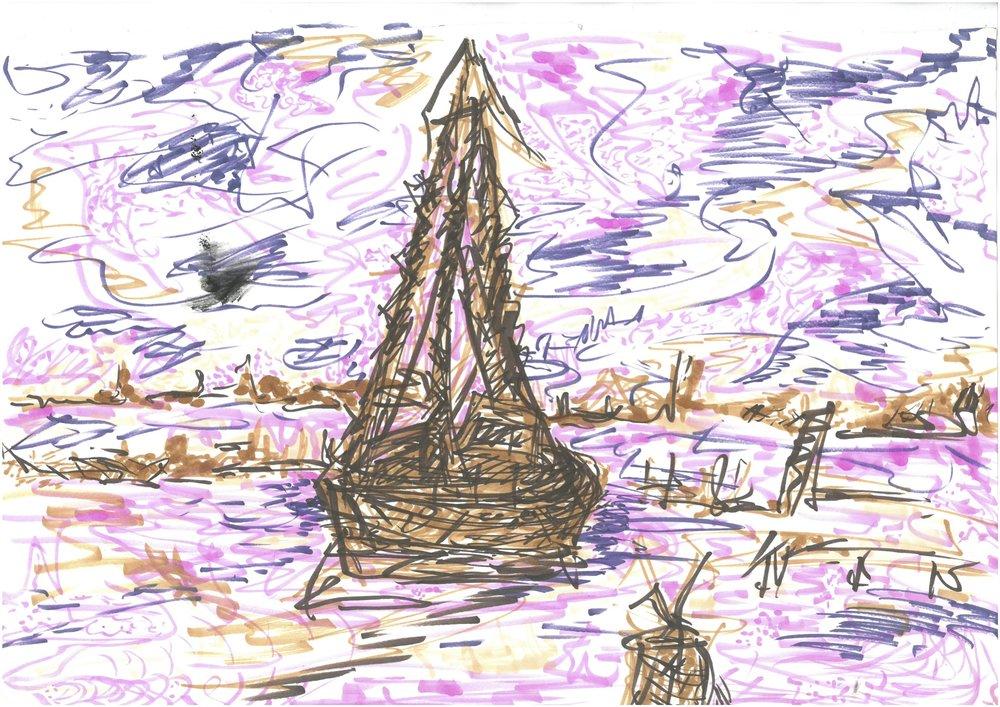 A strangers boat. 2013