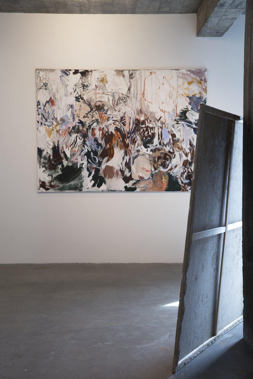 Mixed media on canvas. 250x180 cm.