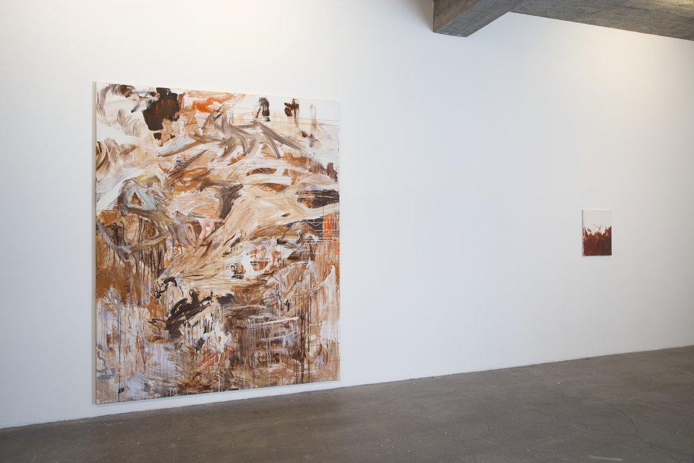 Acrylic paint on canvas. 250x200 cm. 50x60 cm.