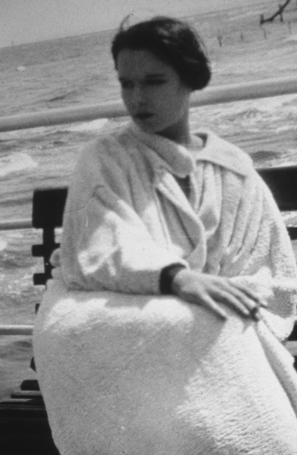Louise Brooks Bench Poland Beach Print.jpg